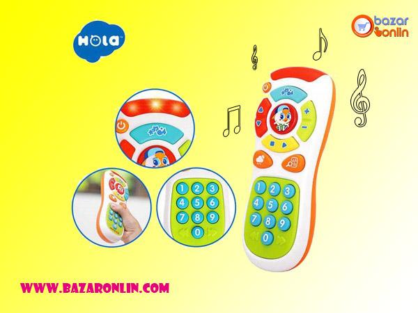 ریموت کنترل آموزشی هولی تویز مدل 3113 مانند سایر محصولات هولی تویز از پلاستیک مقاوم، با کیفیت ABS و نشکن تهیه شده است. و برای کودکان کاملا ایمن و بی خطر است. این اسباب بازی مخصوص کودکان بالای 6 ماه است.