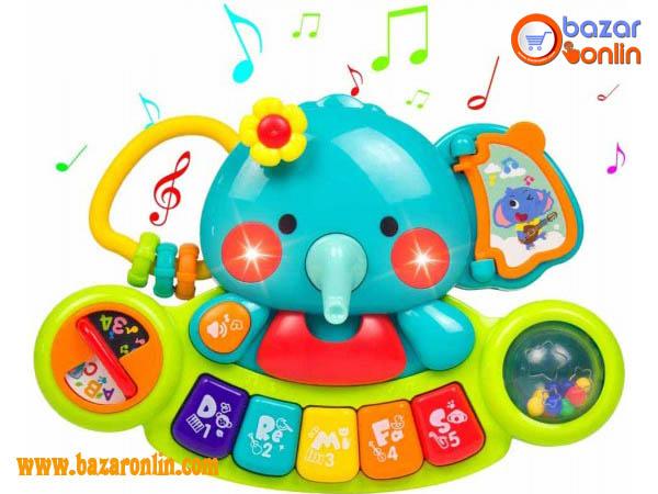 پیانو موزیکال هولی تویز طرح فیل کد 3135