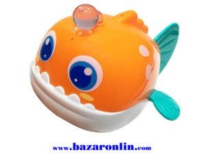 ماهی نارنجی حمام هولی تویز مدل 8103 اسباب بازی هولی تویز
