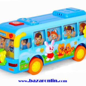 اتوبوس آبی مدرسه هولی تویز مدل 908 اسباب بازی هولی تویز