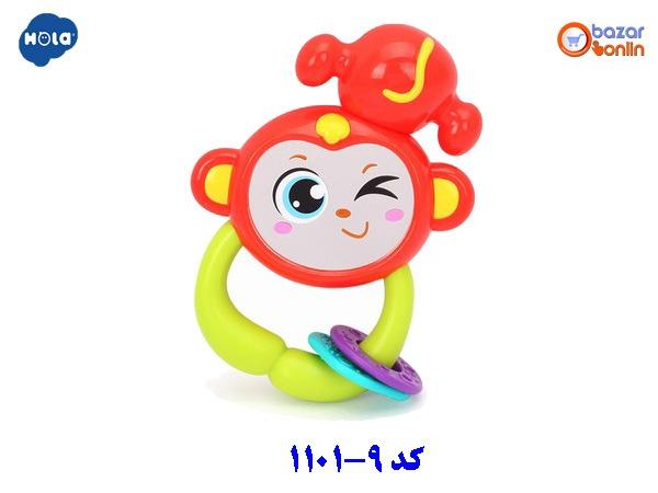 جغجغه میمون هولا تویز مدل 9-1101