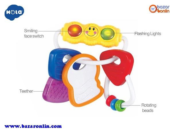 جغجغه دندانگیر چراغدار هولا تویز مدل 306E اسباب بازی